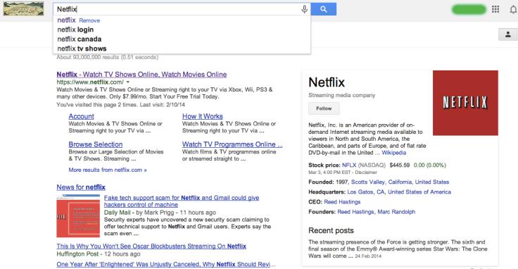 Netflix検索結果
