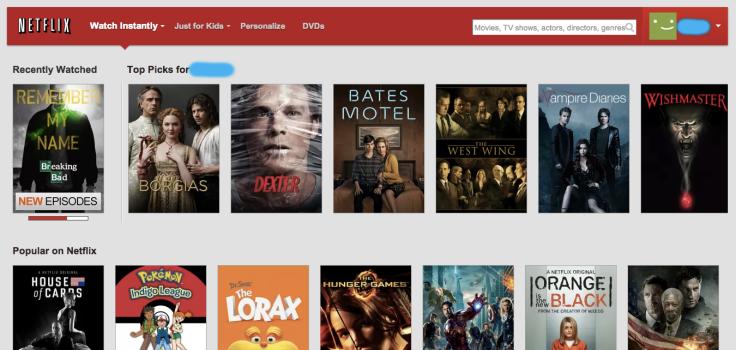 Netflixの最初の画面