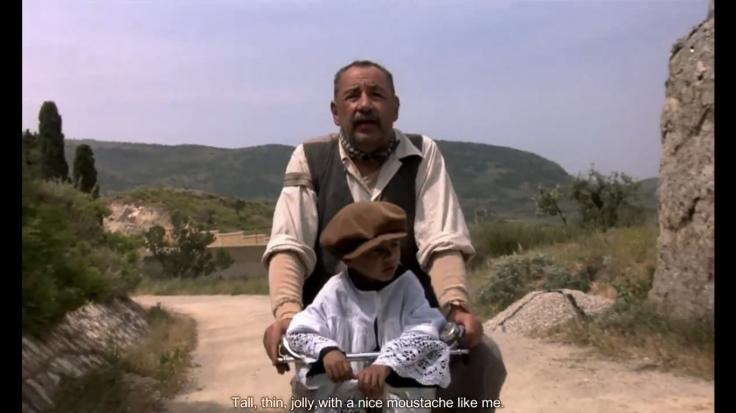 ニューシネマパラダイスの一コマ おじさんと少年